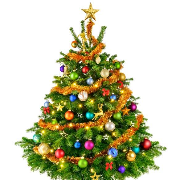 Wer den Weihnachtsbaum hübsch schmücken möchte, der braucht nicht nur die passenden Kugeln und weitere Anhänger, sondern eben auch Girlanden, Lametta oder Perlenketten. (#03)