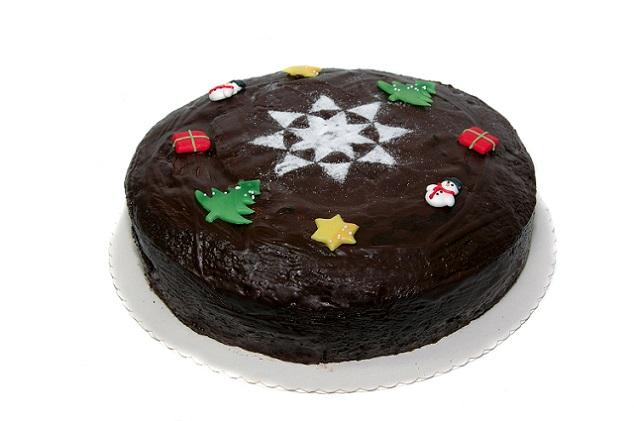 Im Handel gibt es nicht nur Sterne aus Schokolade, sondern auch bunte Figuren aus Zuckerguss (siehe Bild). (#03)